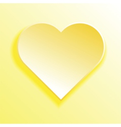 abstract yellow heart vector image vector image