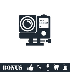 Action camera icon flat vector image