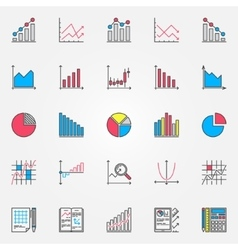 Colorful statistics set vector image vector image