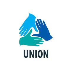 logo handshake vector image vector image
