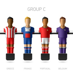 Table football foosball players Group C vector image vector image