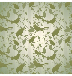 Vintage background with branches and birds vector image