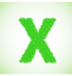 grass letter X vector image