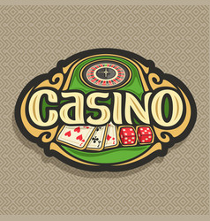 logo for casino vector image vector image
