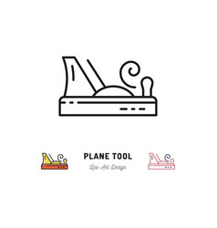 Plane tool icons carpentry logo thin line vector