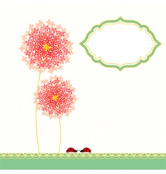 Colorful Hydrangea Flower Garden Party vector image
