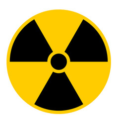 ionizing radiation symbol attention warning sign vector image vector image