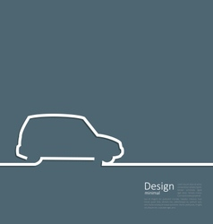 Laconic Design Car Minibus Cleanness Line vector image vector image