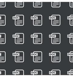 Straight black DOC file pattern vector image