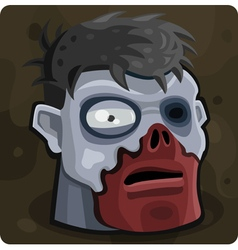 Symbol 9 Blue zombie vector image
