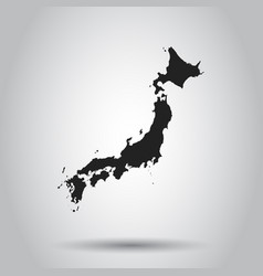 japan map icon flat japan sign symbol with vector image vector image