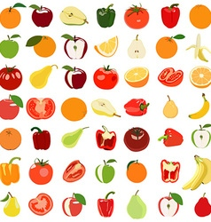 Vegetable and fruit set vector