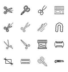 16 scissors icons vector
