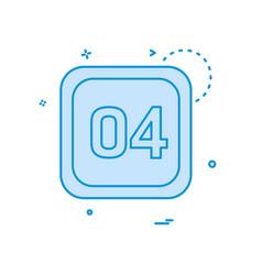 4 date calender icon design vector image
