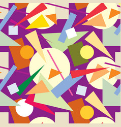 Abstract seamless pattern geometric shape backdrop vector