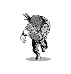 Alien Military Running vector