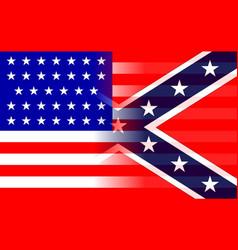 American cilvil war flags blended together vector