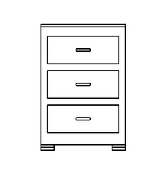 archive furniture icon image vector image