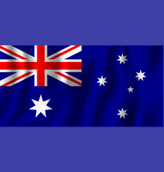 australia realistic waving flag national country vector image