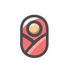 bain pink diapers cartoon vector image