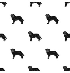 Beagle single icon in black stylebeagle vector