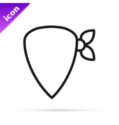 Black line cowboy bandana icon isolated on white vector