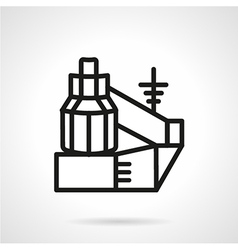 Black line power station icon vector image