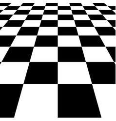 black white squares checkered board background vector image