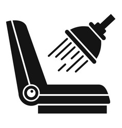 car chair cleaning icon simple style vector image