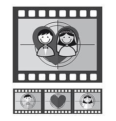 Cartoon style film strip vector