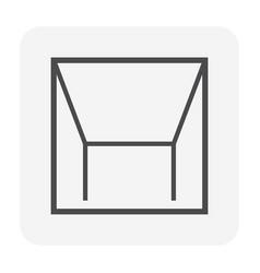 Ceiling icon black vector