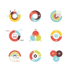 circle infographic design templates vector image