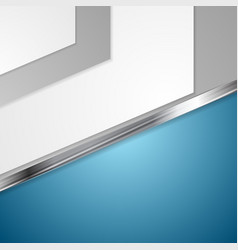 Corporate blue design with metal stripe vector image