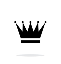 Crown icon on white background vector