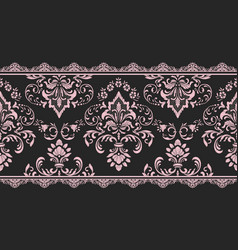 damask border element and page decoration vector image