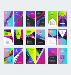 double sided vertical business card templates vector image
