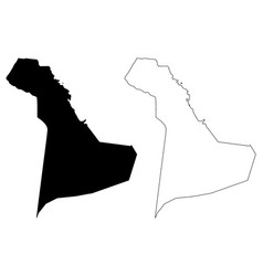 eastern province map vector image