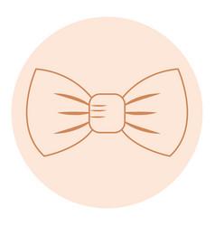 elegant bowtie isolated icon vector image