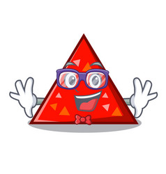 Geek triangel character cartoon style vector