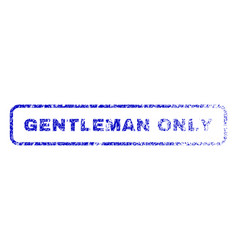 Gentleman only rubber stamp vector