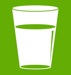 glass water icon green vector image