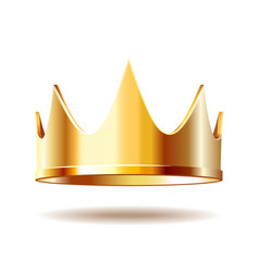 Golden royal crown isolated on white vector