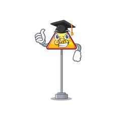 Graduation no cycling character shaped a mascot vector
