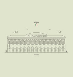 gran guardia palace in verona italy vector image
