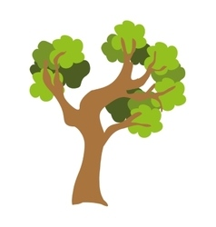 green tree with trunk graphic vector image