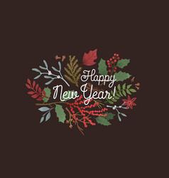 happy new year greeting backdrop winter season vector image