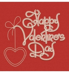 Happy Valentines Day Theme vector image