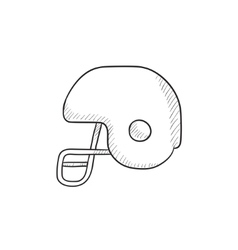 Hockey helmet sketch icon vector image