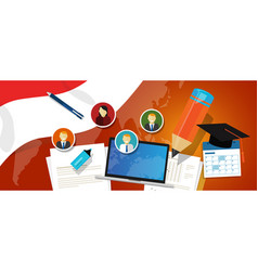 Indonesia education school university concept with vector