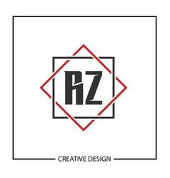 Initial letter rz logo template design vector